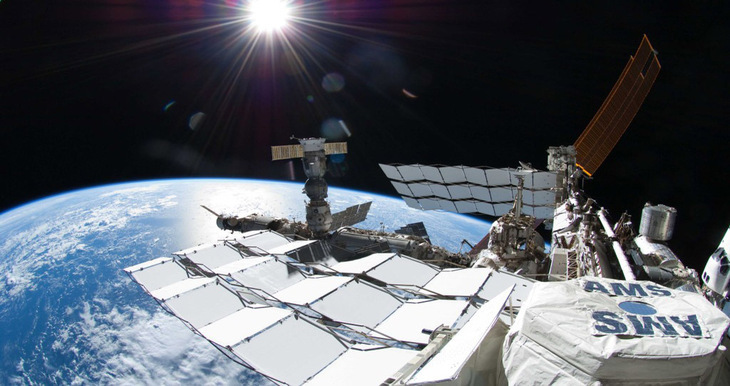 AMS installed at the International Space Station