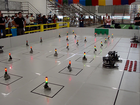 Robots on a playing field
