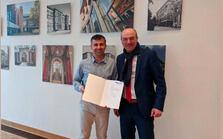 Prof. Dr. Haris Gacanin with Rektor Prof. Rüdiger